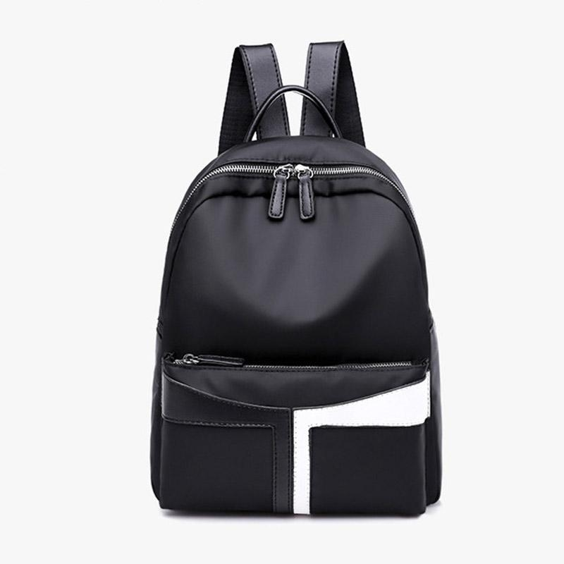 b1ef905684c Women Backpacks New Casual Nylon Fashion Personality Stitching Tide Bag  Female College Wind Backpack Quality Trend School Bags Toddler Backpack  Kelty ...