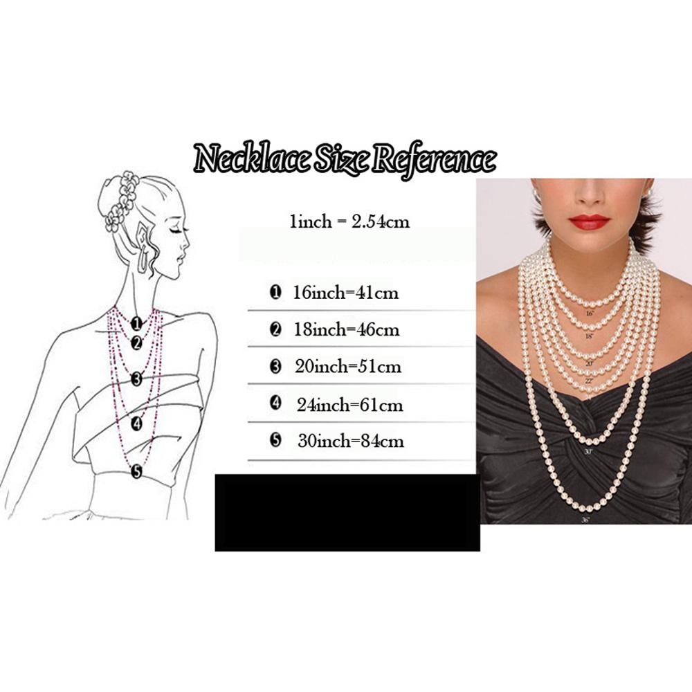 Multilayer Jewerly Set Women Pearl Necklace With Mental Chain Elegant Ladies Earrings Chokers Set For Wedding Party
