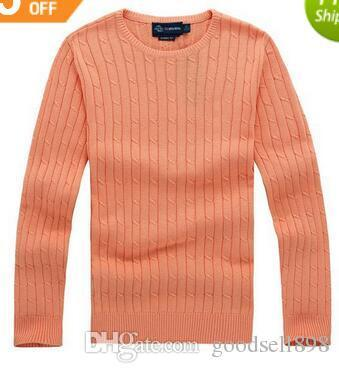 2018 new high quality mile wile polo brand men`s twist sweater knit cotton sweater jumper pullover sweater Small horse game