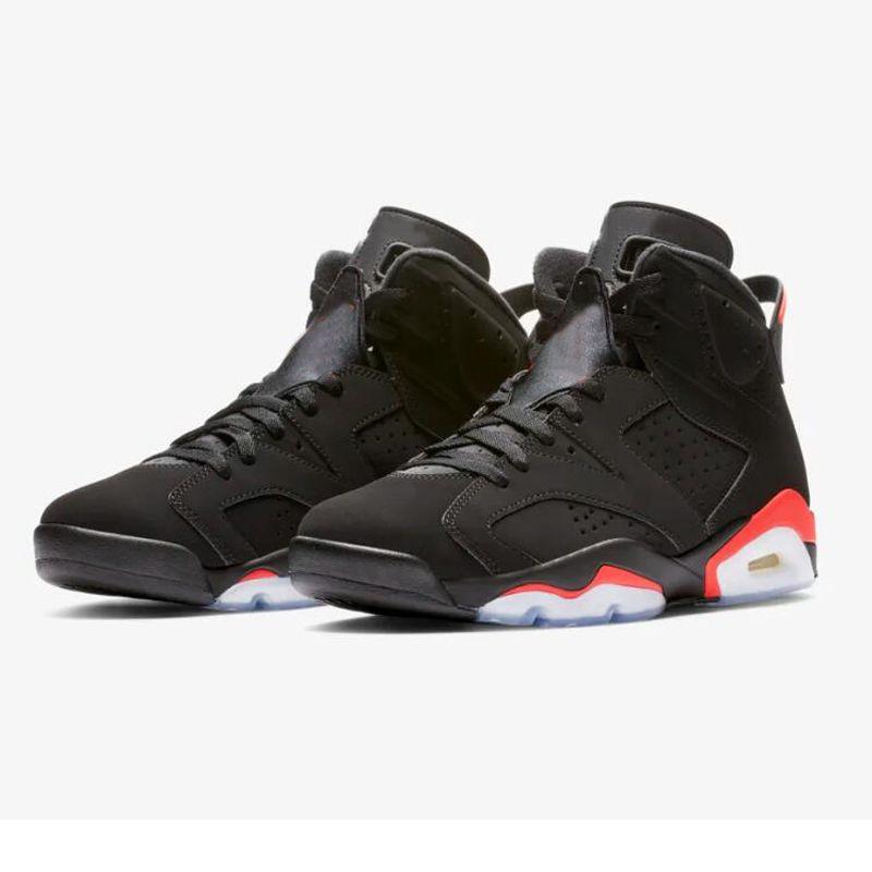 d25c97b420d Designer 6 Black Infrared Red Mens Basketball Shoes 2019 New Arrival ...