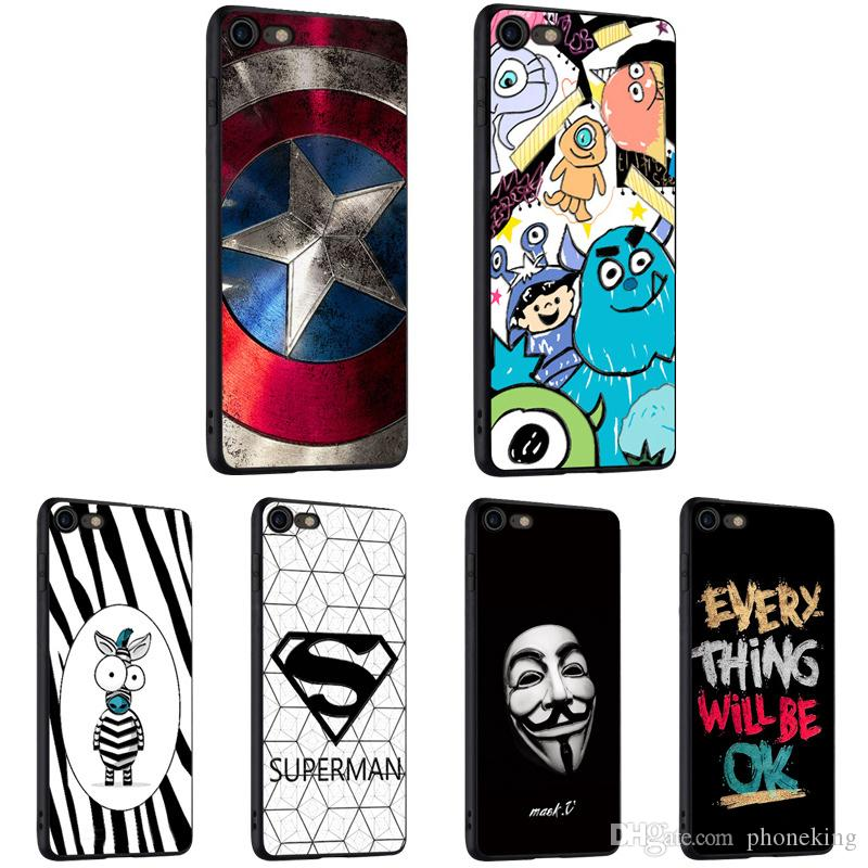 V Vendetta Phone Case Cover For iPHone Cover Cell Phone Back Protector 100%  TPU Premium Quality Case