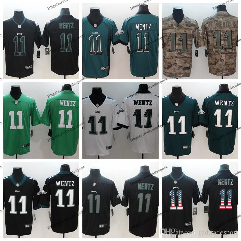huge selection of 09787 c45d3 2019 Camo Salute to Service Philadelphia 11 Eagles Carson Wentz Football  Jerseys Vapor Untouchable Carson Wentz Stitched Football Shirts
