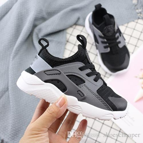 f5a89182110 Cute Kids Air Huarache Sneakers Shoes For Boys Girl Authentic All White  Children S Trainers Huaraches Sport Running Shoes Size 28 35 Running Shoes  Sale Kids ...
