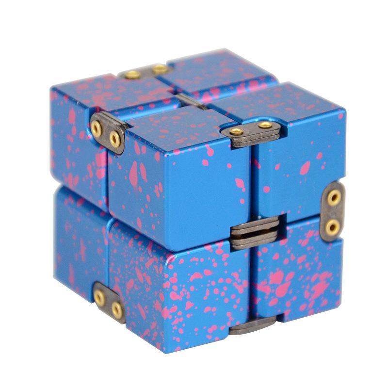 Pure Aluminum Infinite Rubik Cube Decompression Reversal Rubik Cube  Pressure Relief and Anti-irritation Cube Toys