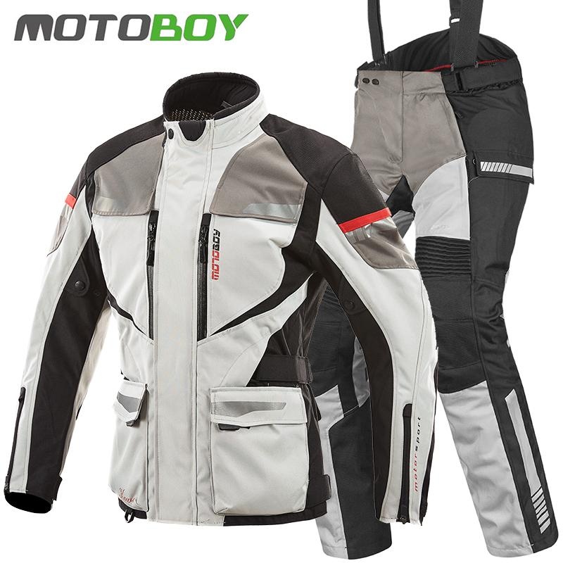 4d8f98c225e Motoboy motorcycle riding suit men knight rally racing bike suit full outfit