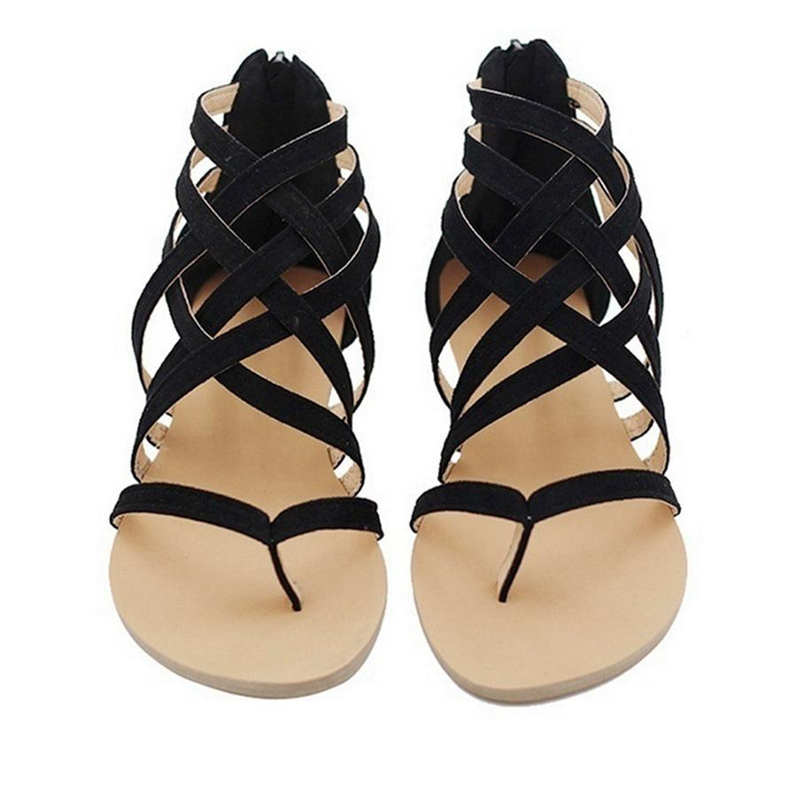 205d0b490d07 Girl Buckle Strap Sandals Summer Women Fashion Sandals Cross Strap ...