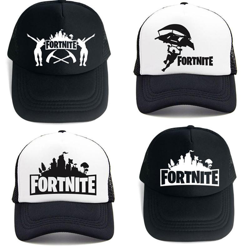08025ec5293b9 2019 Fashion Fornite Casual Game Baseball Cap Women Boys Black White  Snapback Cap Golf Hats Hip Hop Men Cool Fortnight From Qualitywatch