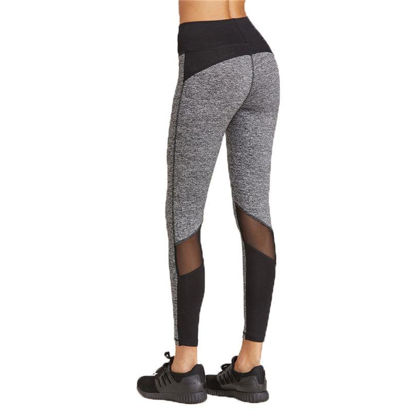 da8bf6e9ff0d 2019 Gray Fitness Sport Running Tights Skinny Yoga Pants Women Leggings Wear  Yoga Leggins Gym Workout Jeggings Aerobic Clothing  73853 From Jersey 2018