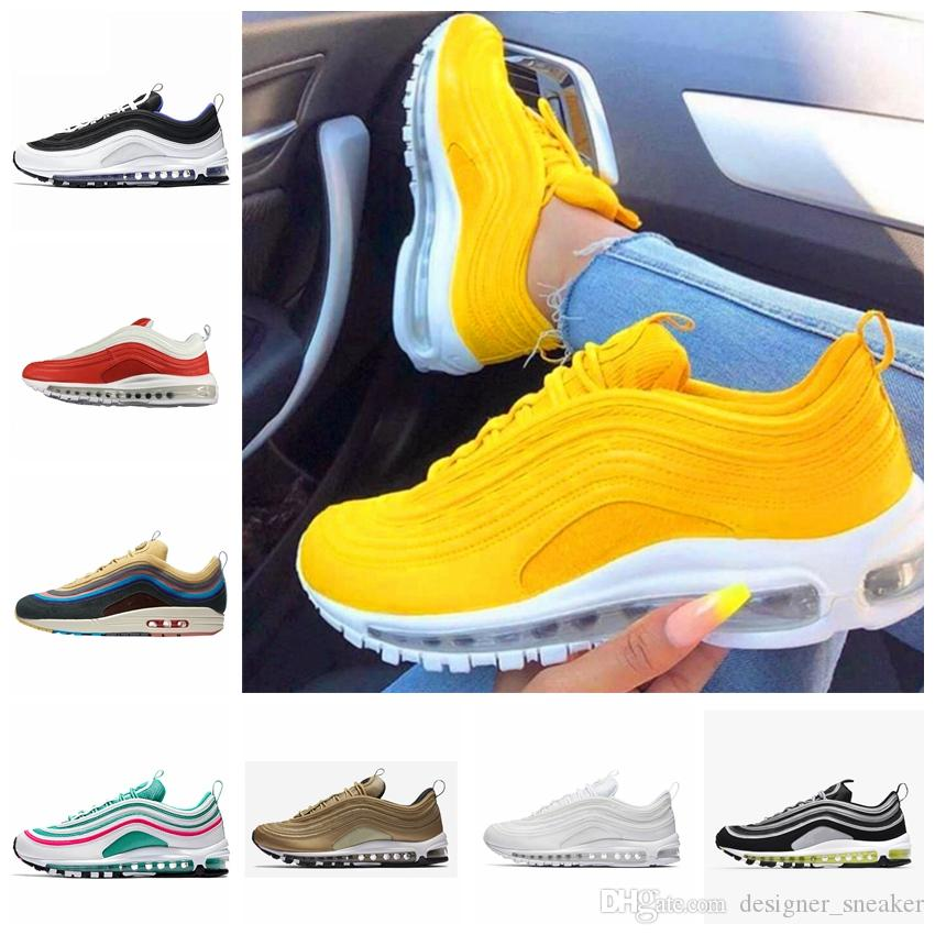 9b1e7de19d2f48 2019 Cushion 97 Running Shoes Sneakers Undefeated Silver Bullet ...