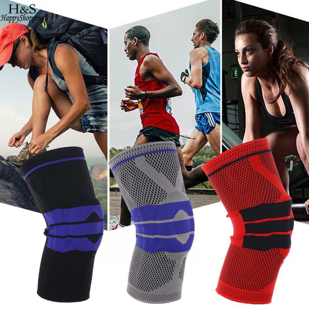 Rotes Kniepolster mit Unisex-Patches aus Sporting Compression Patchwork Schwarz Grau Atmungsaktiv Elastic Protect