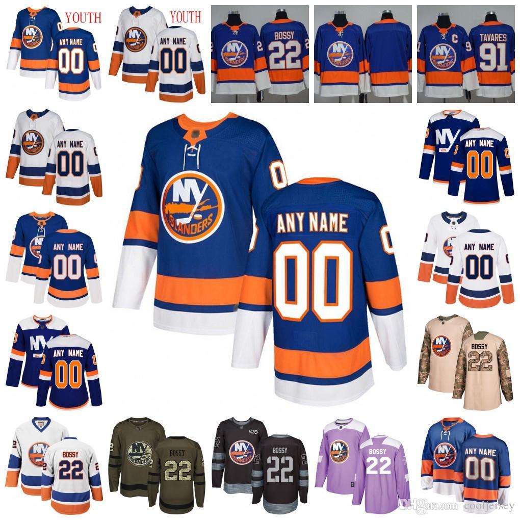 on sale 28d78 73070 Custom New York Islanders 12 Josh Bailey 13 Mathew Barzal 18 Anthony  Beauvillier 55 Johnny Boychuk Hockey Jersey Men Women Youth