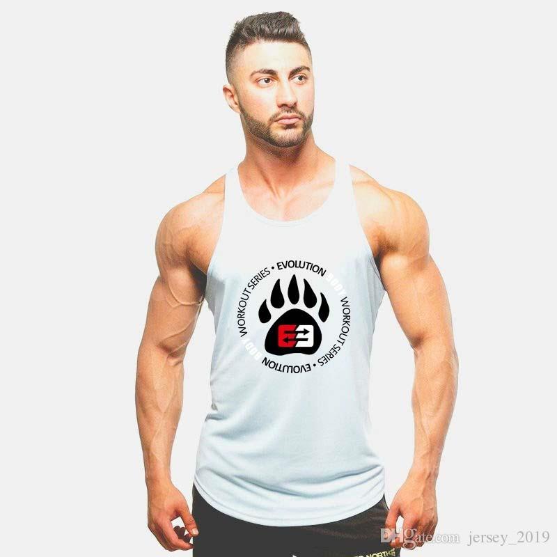 aa579daea765f 2019 Superman Gyms Singlets Mens Tank Tops Shirt