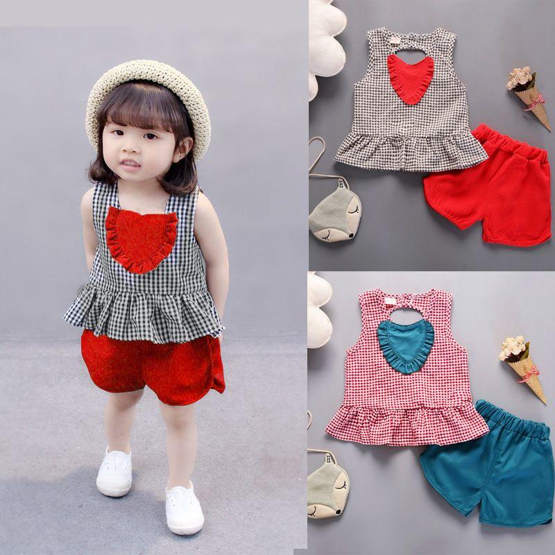 589e8f5384e 2019 Kids Clothes Fashion Toddler Girls Summer Clothing Baby Girl Summer  Clothes Cute Girls Clothes Sleeveless Children Clothing UK 2019 From  Zerocold03