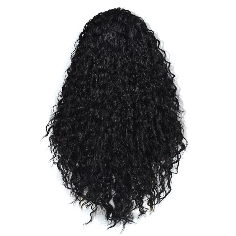 14-26 inch 400g High Quality Lace Front Synthetic Wigs Long Curly Wigs Korean Japanese Kanekalon High Temperature Resistant Fiber