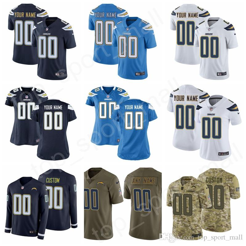 95fa515a Custom Name Men Women Kids Los Angeles Chargers Jersey Joey Bosa James  Gordon Gates Austin Ekeler Jatavis Brown Justin Jackson Mike Williams