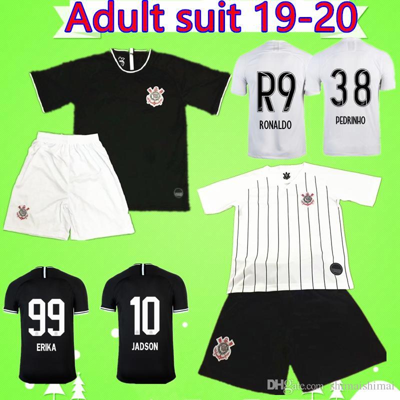 sale retailer 38f95 b2954 Adult Kit 2019 2020 Corinthian Paulista soccer jersey Brazil RONALDO suit  Camisa de futebol Men set football shirt CLAYTON CLAYSON 19 20