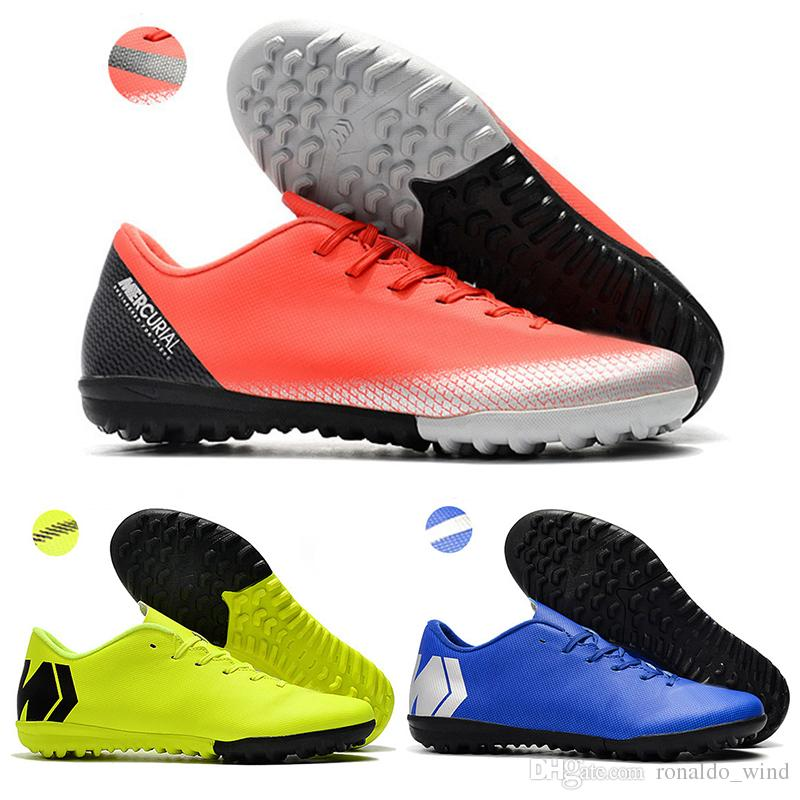 5ac63b842 Kids Low Ankle Football Boots Youth VAPORX 12CLUB IC TF Superfly ...