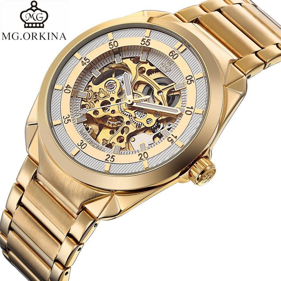 3c2dca65f3ec Compre Orkina Reloj Para Hombre Relojes Mecánicos De Lujo Para Hombre Reloj  De Esqueleto De Lujo Relojes De Oro Automático Reloj Hombre Relogio A   45.48 Del ...
