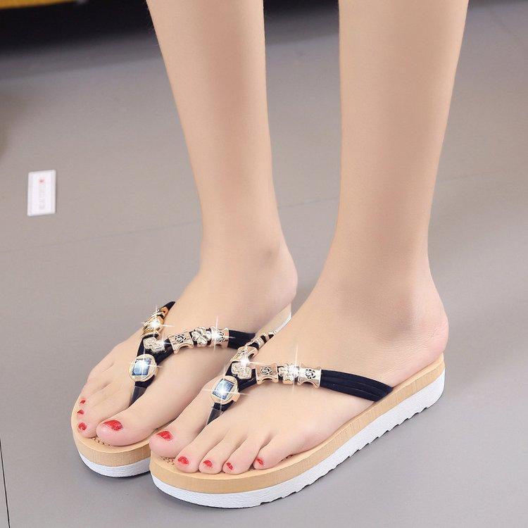 Sommer Sandalen Frauen Schuhe 2019 Mode Flache Sandalen Strass Kristall Schuhe Frauen Hausschuhe Flip-flops Sandalia Feminina 35-42 Schuhe