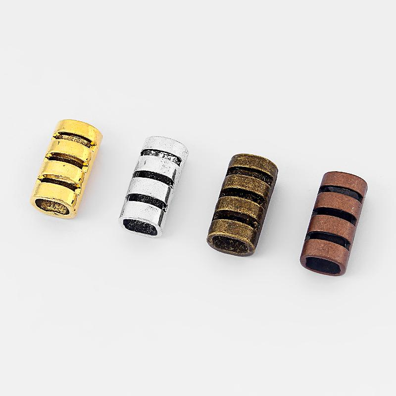 Fashion Bar Tube Jewelry Four Color Open Spacer For 10 6mm Licorice ... 71094228dc25
