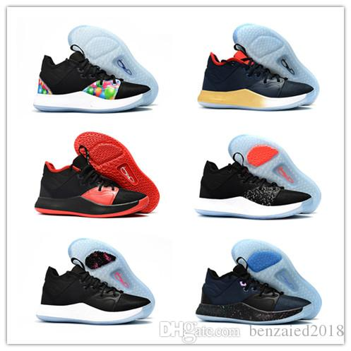 online store b5ba9 b6400 2019 New Men s Lights UP PG 3 PlayStation Taurus Road Master Basketball  Shoes Paul George III PG3 3s PS Casual Sport Outdoor Size 40-46