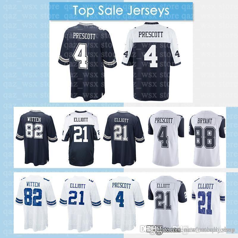 sale retailer 7ac93 ff43b Dallas 2018 New Cowboys Jerseys 82 Jason Witte 90 DeMarcus Lawrence 88 Dez  Bryant Men s Jersey Embroidery Top sale