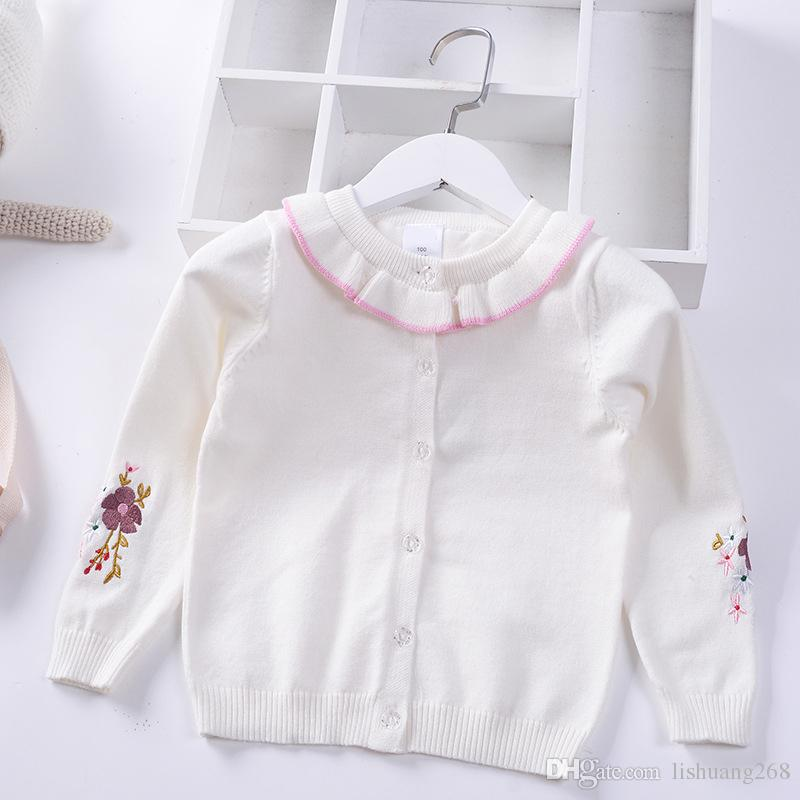 bb4d1600d 2019 Spring Autumn New Girls Princess Sweaters Kids Warm Cotton Coat ...