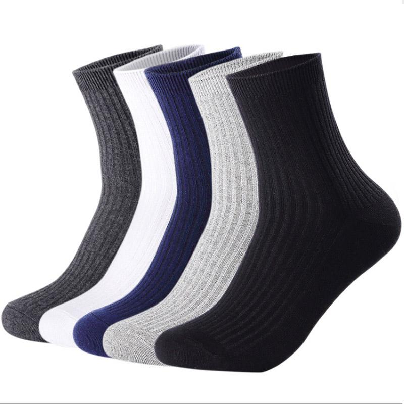 5d2358d816aa Cotton Men Crew Socks Solid Color Black White Casual Sock Popsoket ...