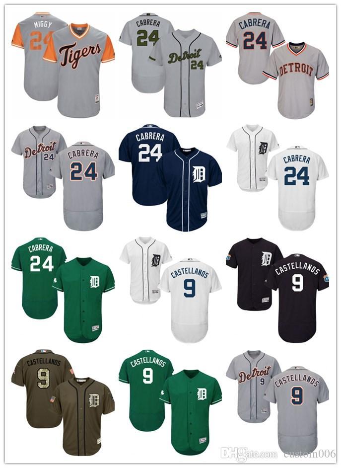 Nick Profesionales Miguel Béisbol Cabrera Detroit24 2019 Camiseta De 9 Joven Cosidos Para Mujer Tigres Hombre Miggy Castellanos J1cKTlF