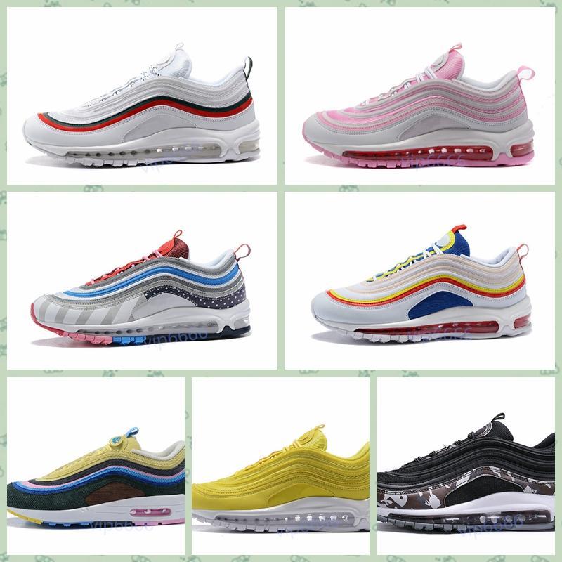 Nike Air Max Original barato Hombres Mujeres Deportes al aire libre zapatos 97 OG NRG 97S SE Plus QS PRM Diseñador de lujo zapatillas de deporte