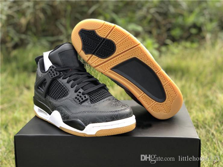 30952e10672b 2019 2019 Newest Authentic 4 SE Laser Black Gum Retro White 3M Light Brown  UNIVERSITY Red 4S Basketball Shoes Sports Sneakers Man CI1184 001 From ...