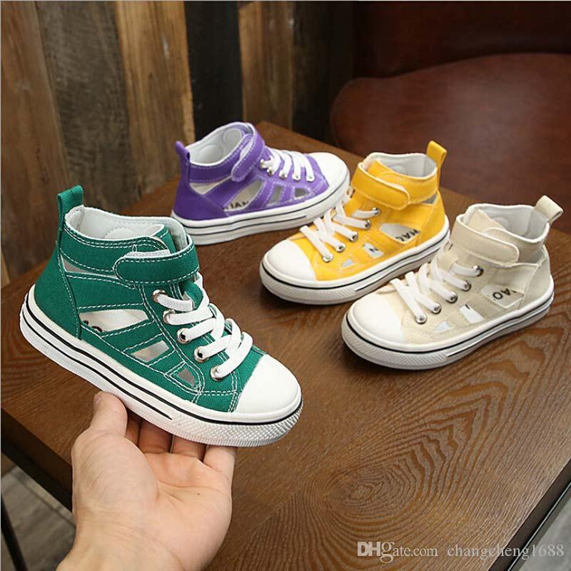 Frühling und Sommer Neue Kinder Schuhe Kind Leinwand Schuhe