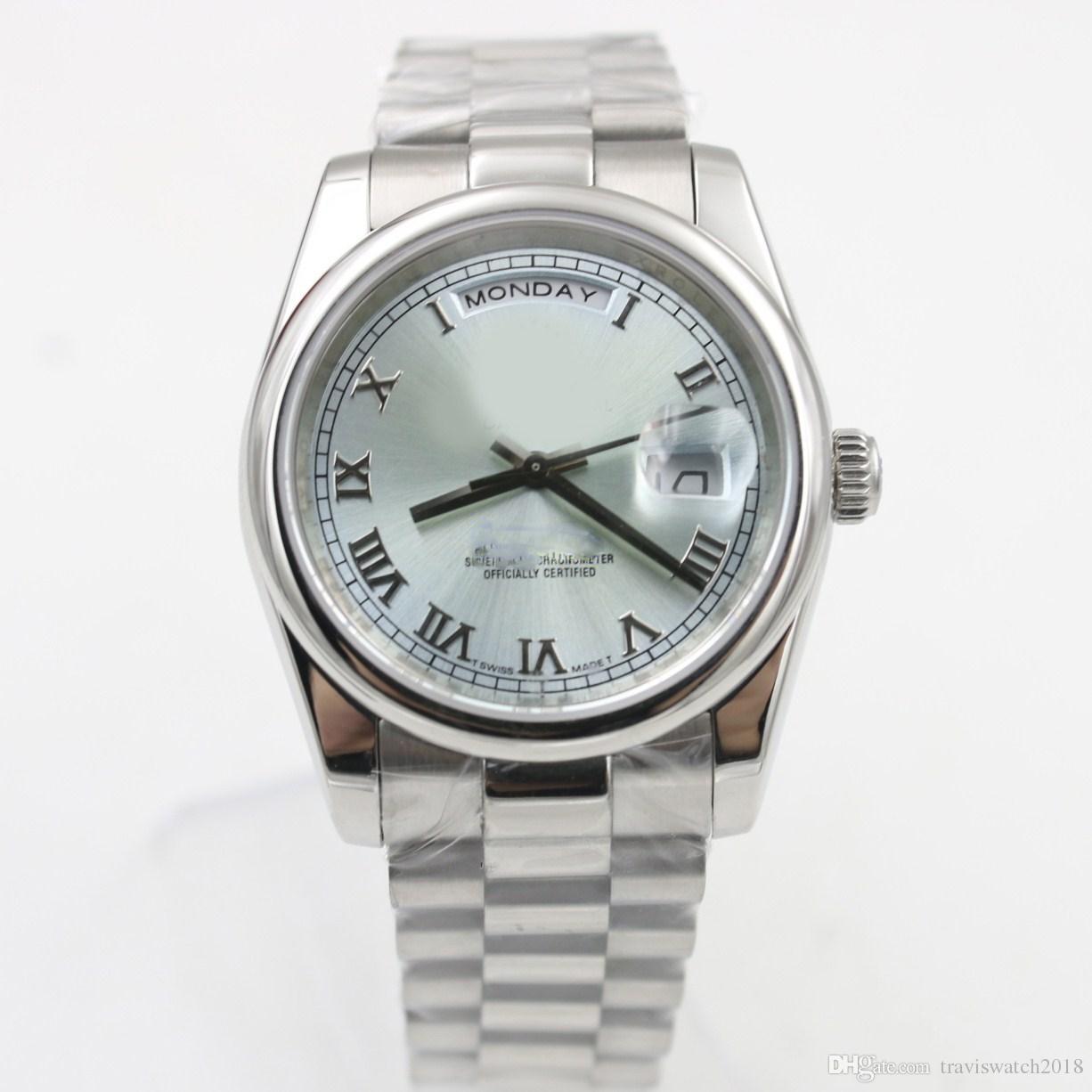 c006d99c8f16 Compre Relojes De Marca De Lujo Roli DÍA Clásico Reloj Mecánico Automático Para  Mujer FECHA 36 Mm Reloj De Calidad AAA Reloj De Acero Inoxidable Royal Oaks  ...