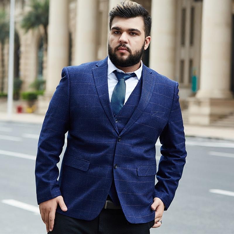 114125ab02c Men s plaid blazers plus size 6XL 7XL 8XL 9XL 9xl men s suit blazer Formal  blazer dress jacket high quality wedding Business