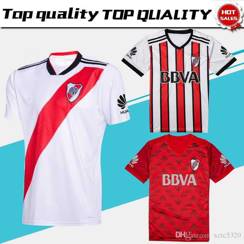 2019 2018 River Plate Home White Soccer Jersey 18 19 River Plate Away Red  3rd Stripe Soccer Shirt 2018 Customized Football Uniform Sales From  Xctc5320 c58d28f32
