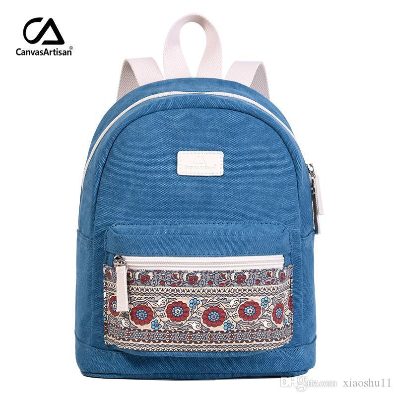 Canvasartisan Brand New Women s Canvas Backpack Retro Style Daily ... 8ee5f6bef74aa