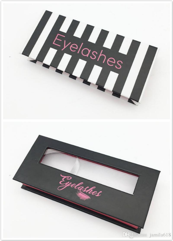 eb136b7ae7a 2019 No Logo Magnetic Eyelashes Box Custom Eyelash Box 3D Mink Lashes False Eyelashes  Packaging Box Cardboard Window Eyelashes Package Boxes From Jamila618, ...