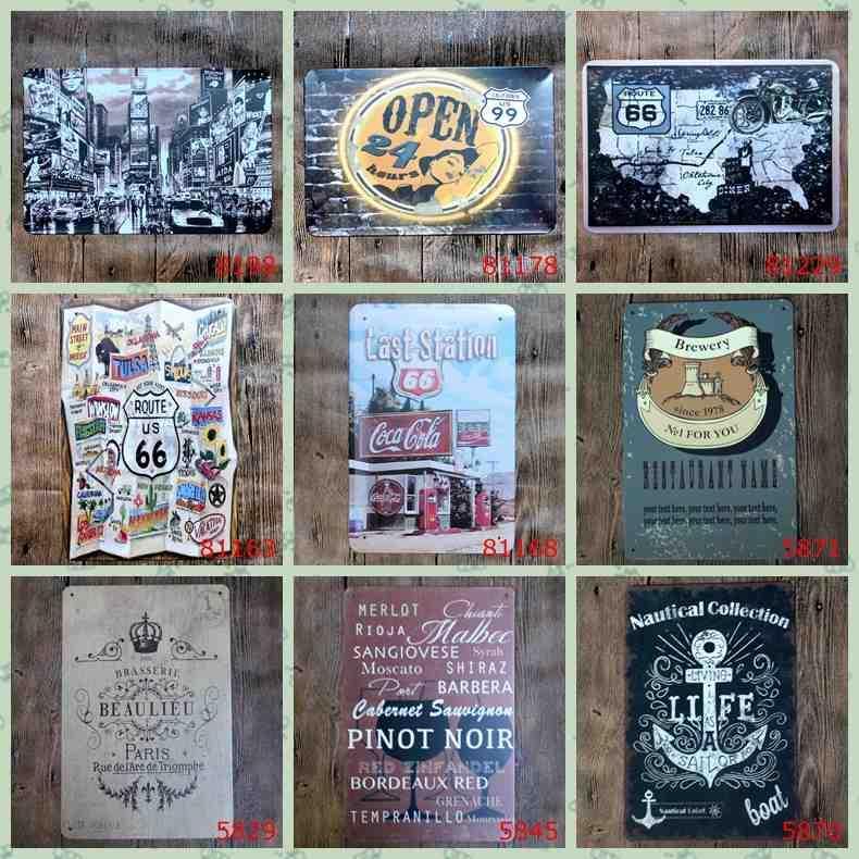 Satın Al Lüks Duvar Dekor California 99 Kola Vintage Metal Boyama