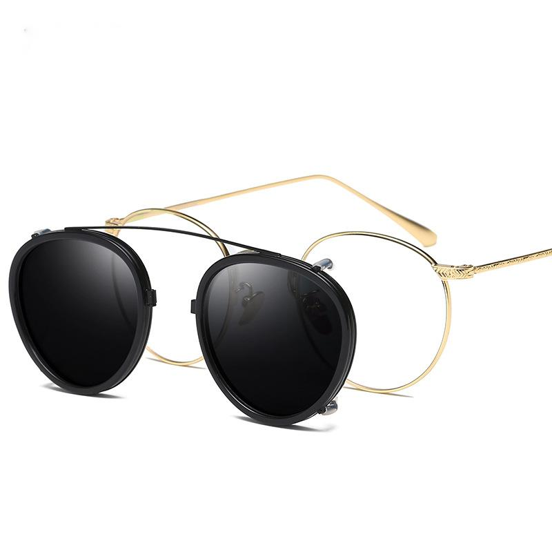 Polarized Clip-on Sunglasses Metal Eyeglass Frames Driving Retro Spectacles Glasses Lightweight Eyeglasses Frame