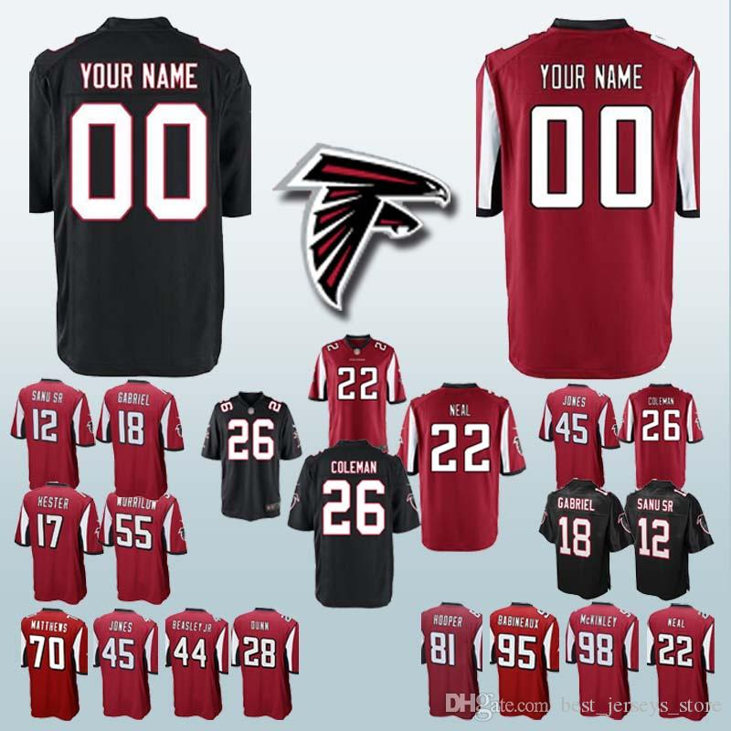 brand new 62202 756e4 81 Austin Hooper Atlanta jerseys Falcon 44 Vic Beasley Jr. 22 Keanu Neal 45  Deion Jones 26 Tevin Coleman 12 Mohamed Can be customized jersey