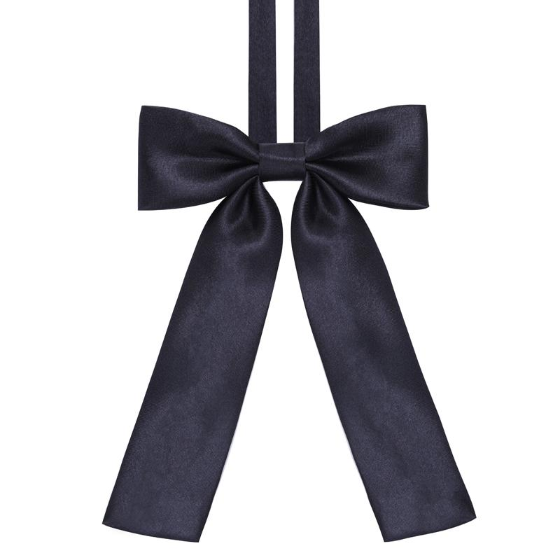 Academic Style Black Sailor Suit Classics Fashion Unique Womens Girls Novelty BIG Bow Tie Wedding Gift