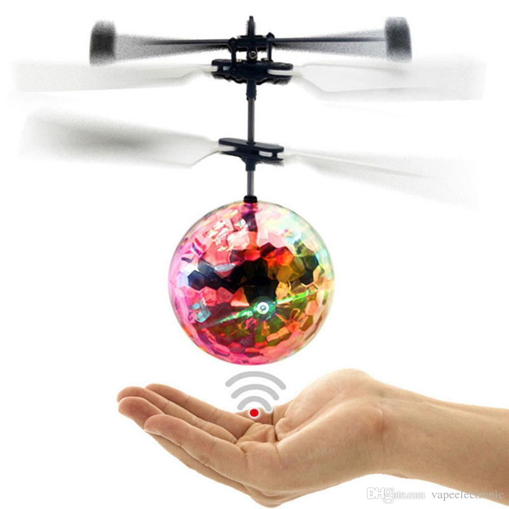 Hot LED Colorful Flashing Infrared Induction Helicopter Flying Ball Disco Magic LED Ball Stage Lamp Children Toy Best Gifts for Kids