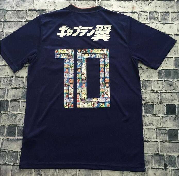 c90cd08d69e 2019 Cartoon Number 2018 World Cup Japan Soccer Jersey Captain TSUBASA 10  OLIVER ATOM KAGAWA ENDO 9 HYUGA NAGATOMO Custom Blue Football Shirt From ...