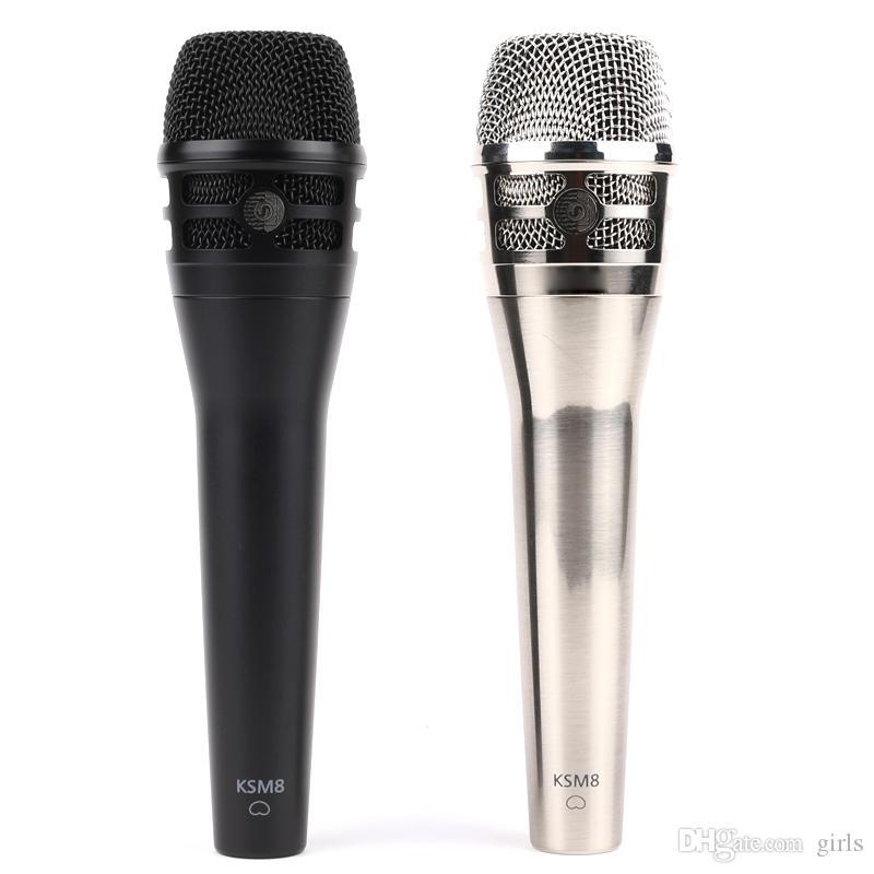 Qualità superiore KSM8 KSM9 Classic Wired Microfono Professionale Palmare Karaoke Vocal Singing Dinamica Podcast Mic da DHL