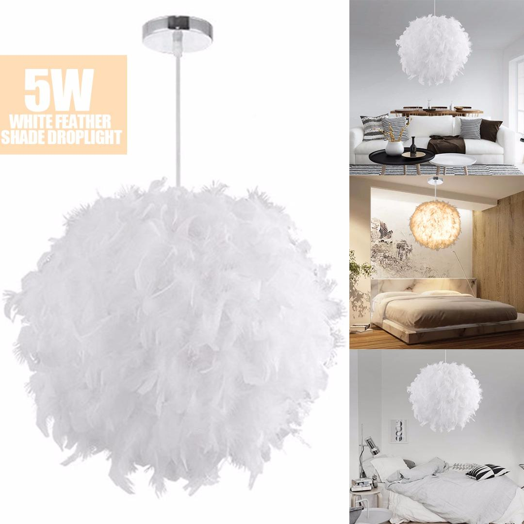 Acheter 5W Plume Blanche Suspension E27 LED Plafonnier Droplight ...