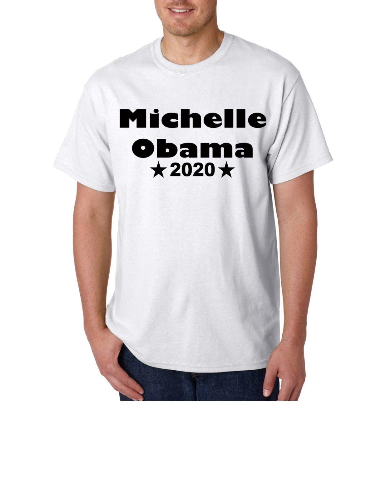 925edbae Michelle Obama 2020 Democrat Election Barack Unisex T Shirt Funny 100%  Cotton T Shirt Harajuku Summer 2018 Funky T Shirts Online Shirts Mens From  Darkcup, ...