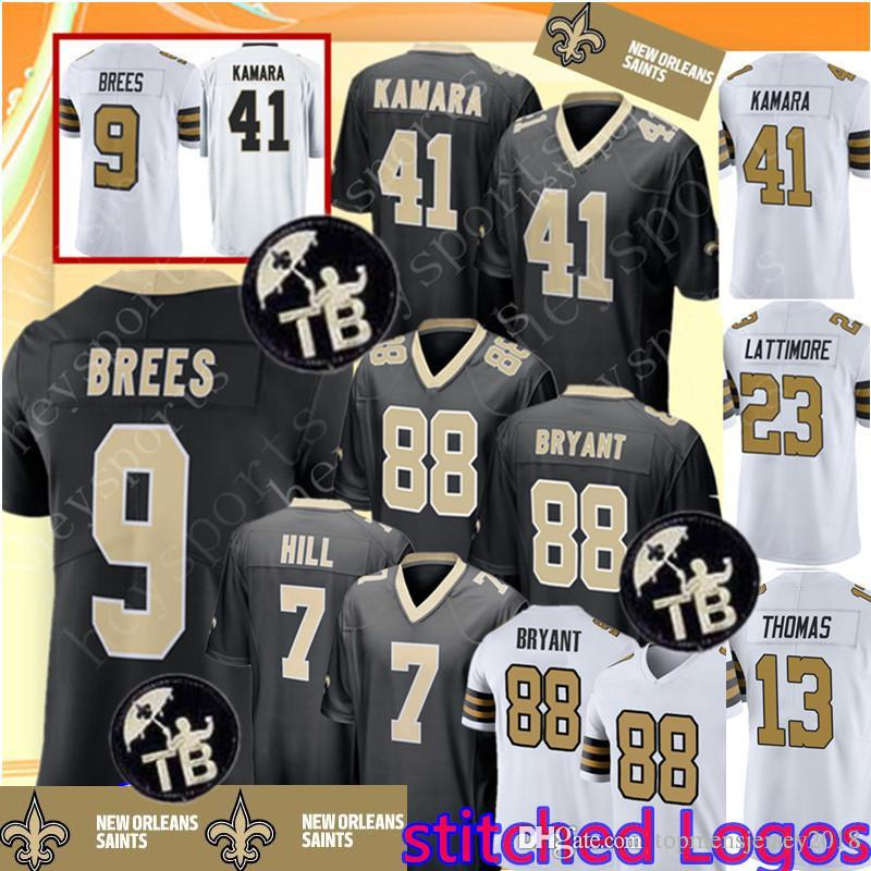 Saints 9 Drew Brees 41 Alvin Kamara Jersey New Orleans Saints 88 Dez Bryant  7 Taysom Hill 13 Michael Thomas 23 Marshon Lattimore Jerseys UK 2019 From  ... eddde6fb8