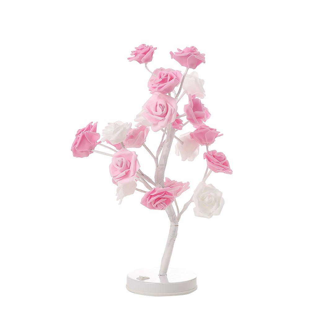 Acheter Cmhi Rose Fleur Arbre Lampe De Table 24 Leds Lampe De Bureau