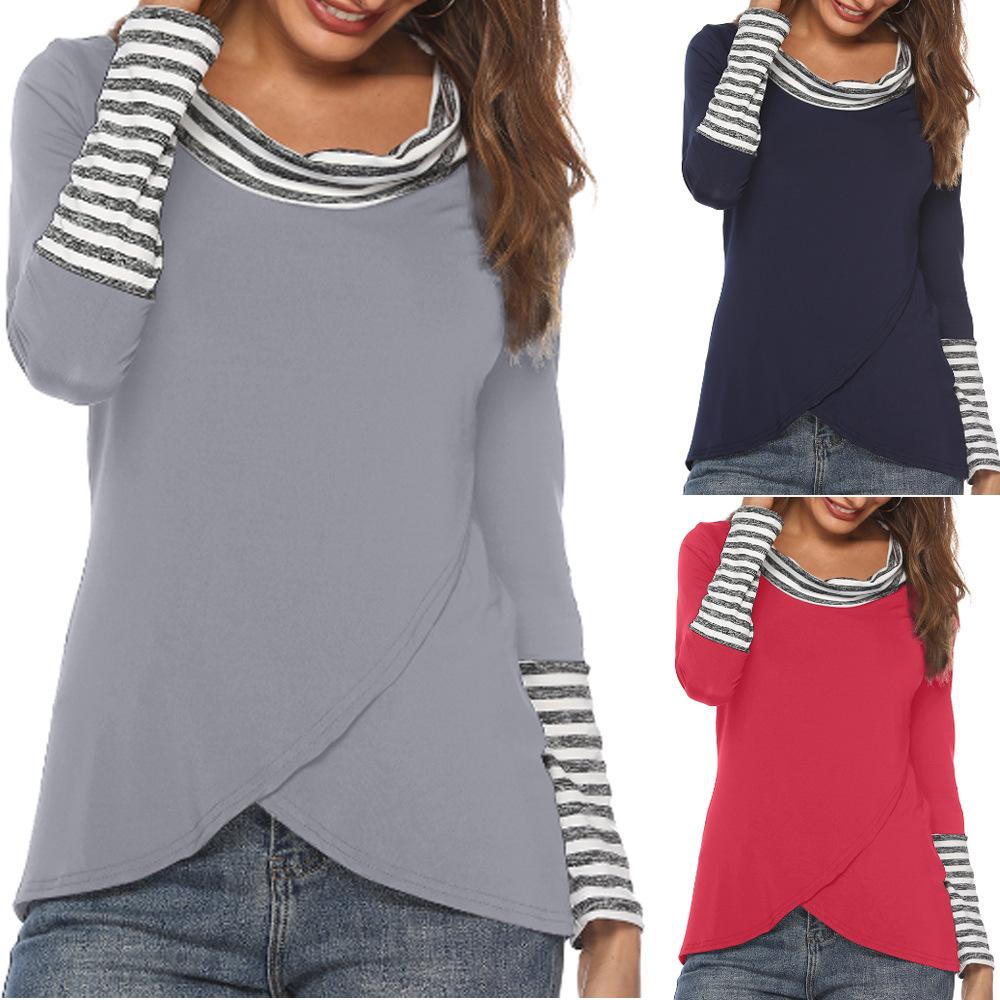 Women/'s Stripe Long Sleeve Tops Casual Fashion New T-Shirt Blouse Shirt
