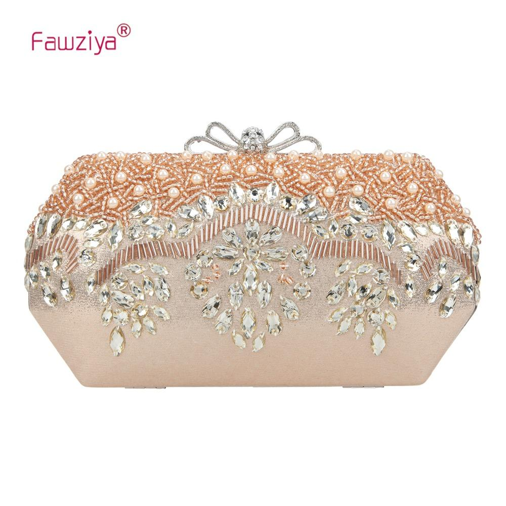 super cheap great variety models official supplier Fawziya Pearl Clutch Bow Crystal Evening Bags And Clutches For Women
